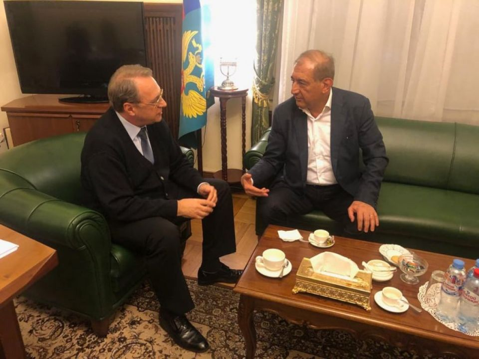 Press Release by the Russian Foreign Ministery on the Meeting of Bogdanov and Jamil