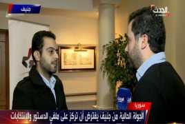 لقاء مهند دليقان على قناة العربية الحدث 05/12/2017