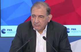 مؤتمر صحفي للدكتور قدري جميل في موسكو 23/05/2017