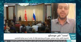 لقاء أمين حزب الإرادة الشعبية، مهند دليقان، مع قناة «سوريا»